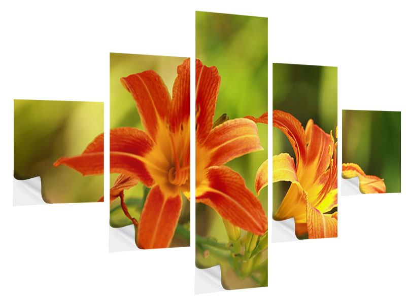 Klebeposter 5-teilig Natural Lilien
