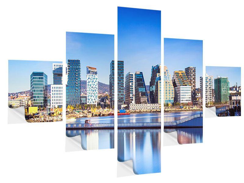 Klebeposter 5-teilig Skyline Oslo