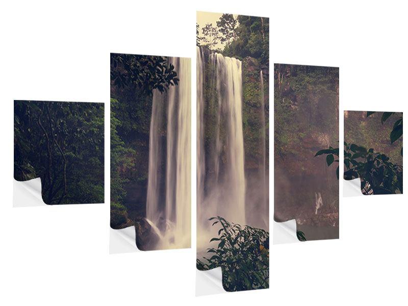 Klebeposter 5-teilig Wasserfall in Mexiko