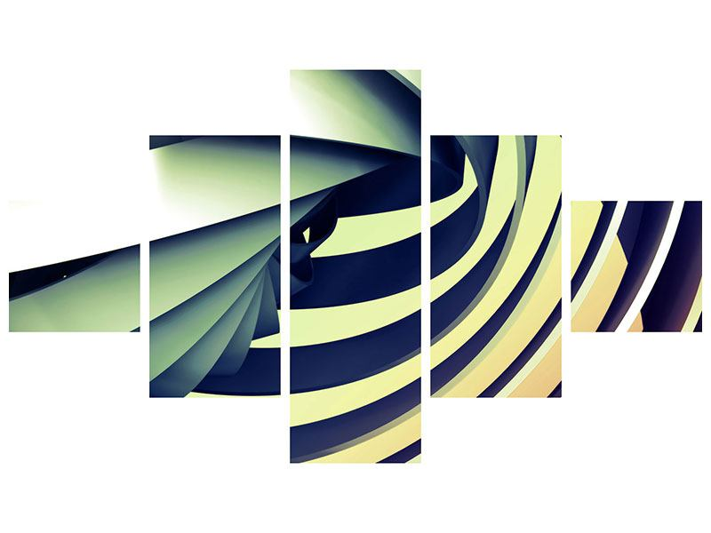 Klebeposter 5-teilig Abstrakte Perspektiven