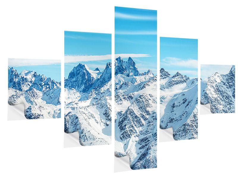 Klebeposter 5-teilig Alpenpanorama