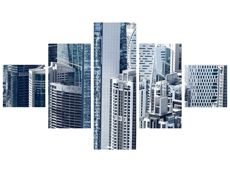 Klebeposter 5-teilig Die Wolkenkratzer von Dubai