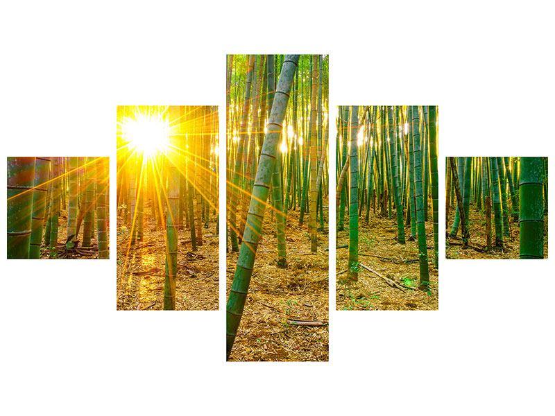 Klebeposter 5-teilig Bambusse