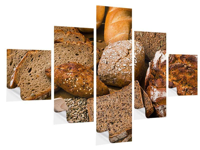 Klebeposter 5-teilig Brotarten