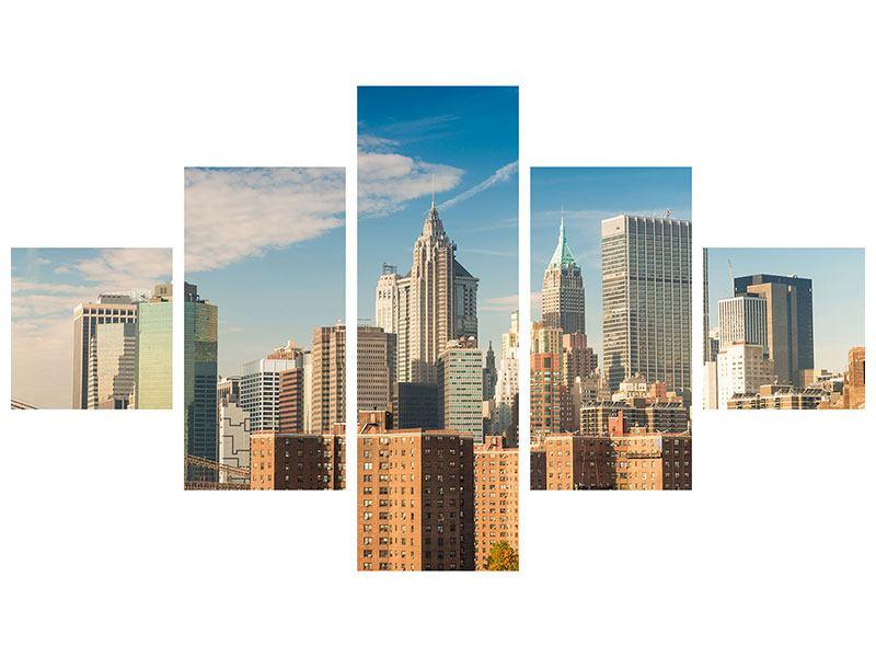 Klebeposter 5-teilig Skyline New York