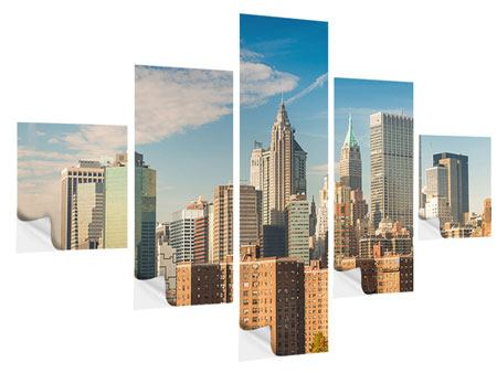 Klebeposter 5-teilig Skyline New York