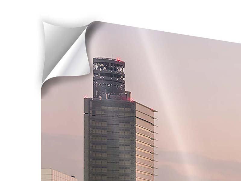 Klebeposter 5-teilig Skyline Das Lichtermeer von Tokio
