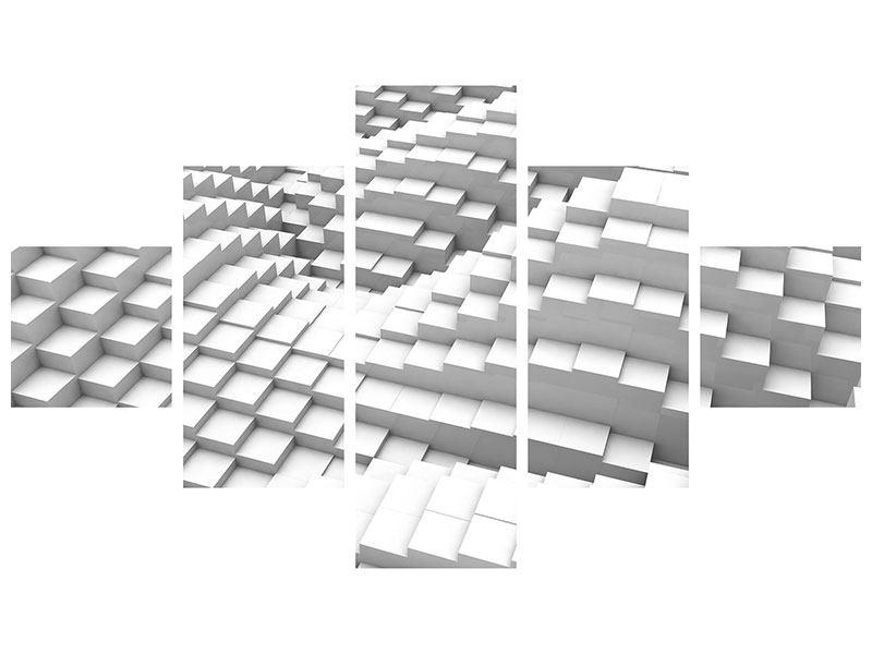 Klebeposter 5-teilig 3D-Elemente