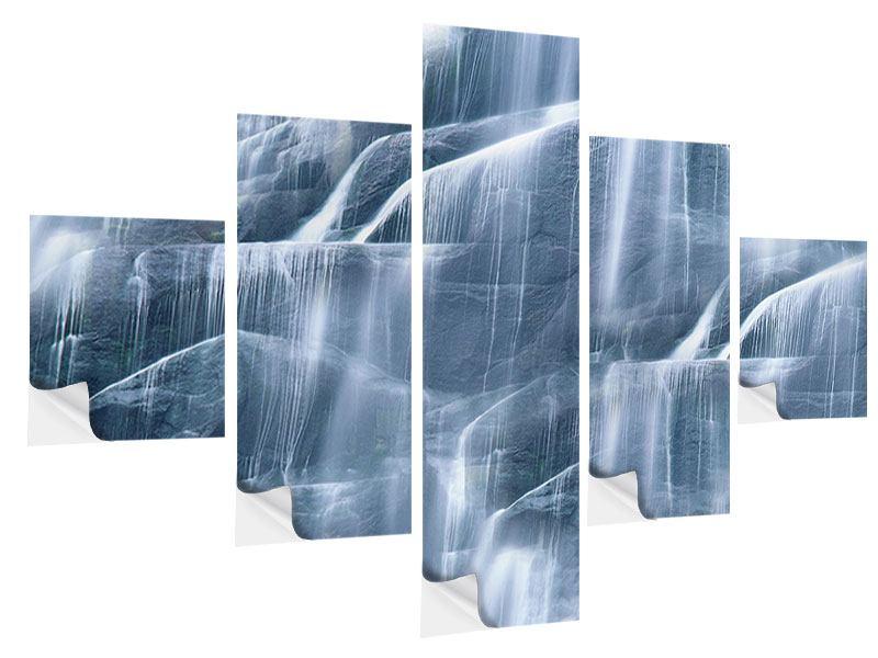 Klebeposter 5-teilig Grossartiger Wasserfall