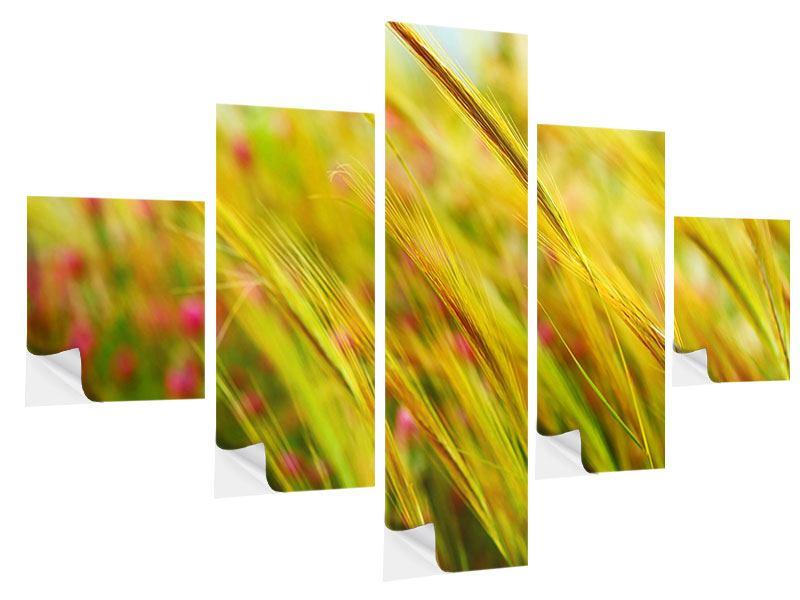 Klebeposter 5-teilig Das Weizenfeld