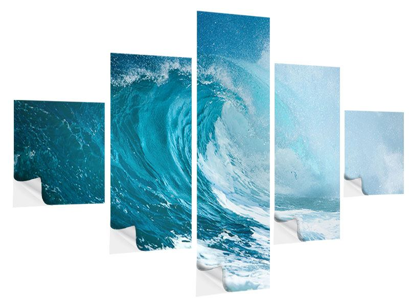 Klebeposter 5-teilig Die perfekte Welle