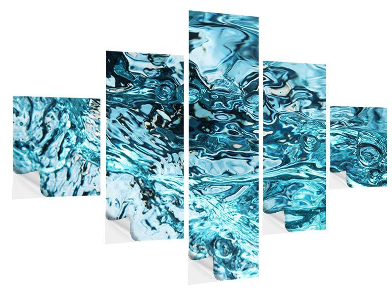 Klebeposter 5-teilig Schönheit Wasser