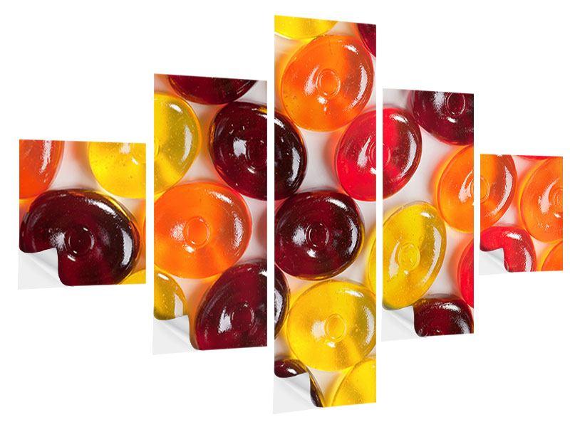 Klebeposter 5-teilig Bonbons