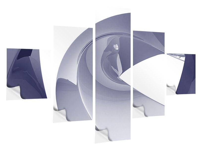 Klebeposter 5-teilig Abstrakte Schwingungen