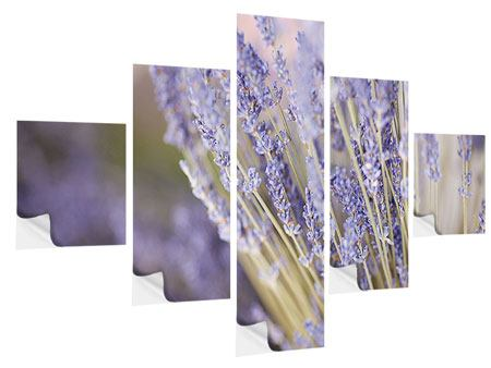 Klebeposter 5-teilig Lavendel XXL