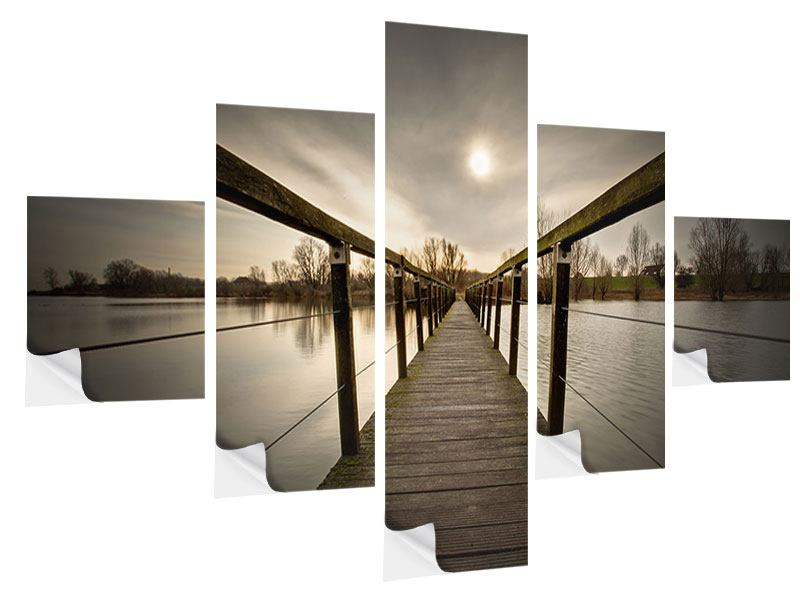 Klebeposter 5-teilig Die Holzbrücke