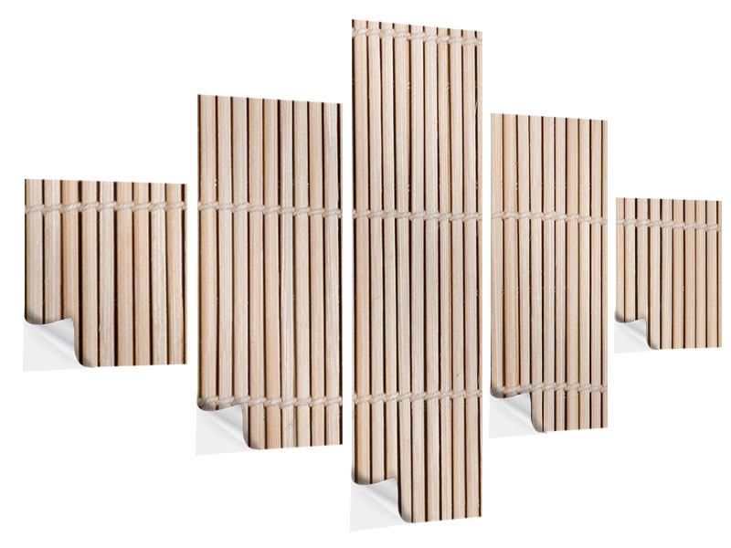 Klebeposter 5-teilig Lucky Bamboo