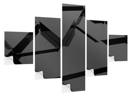Klebeposter 5-teilig 3D-Dreiecksflächen