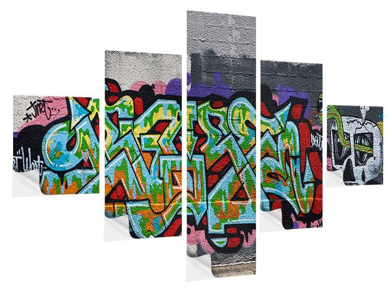 Klebeposter 5-teilig Graffiti in New York