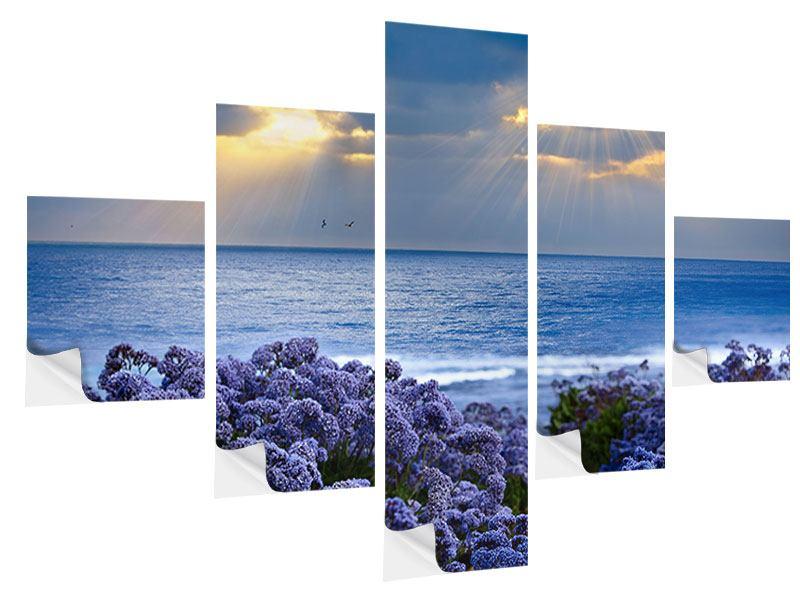 Klebeposter 5-teilig Der Lavendel und das Meer