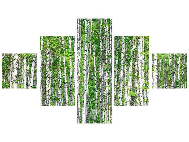 Klebeposter 5-teilig Der Birkenwald