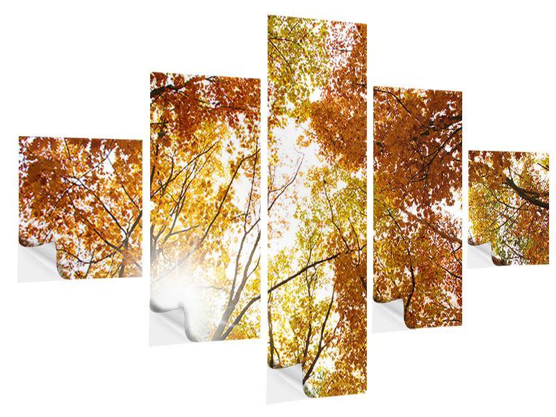 Klebeposter 5-teilig Herbstbäume