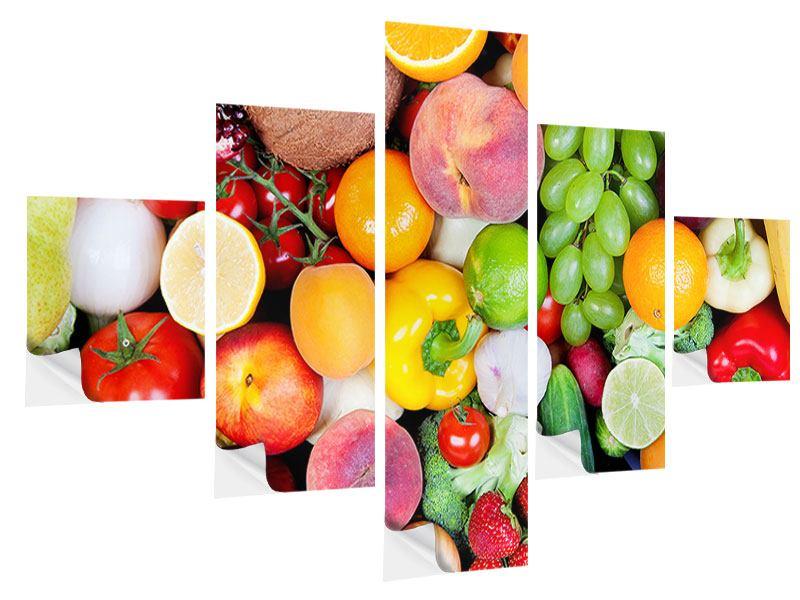 Klebeposter 5-teilig Frisches Obst