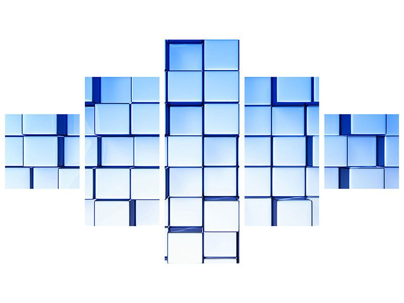Klebeposter 5-teilig 3D-Symetrie
