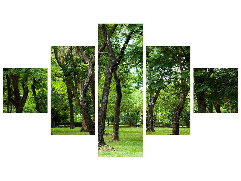 Klebeposter 5-teilig Kirschbaum-Garten