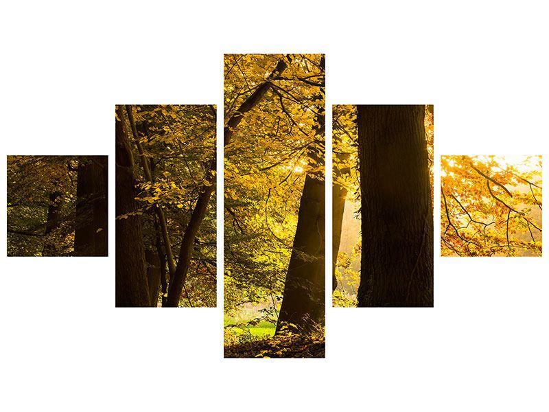 Klebeposter 5-teilig Herbstlaub