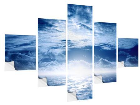 Klebeposter 5-teilig Mystischer Himmel