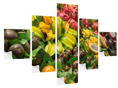 Klebeposter 5-teilig Früchte