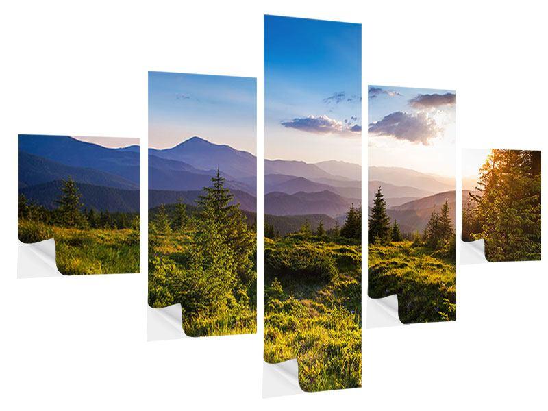 Klebeposter 5-teilig Friedliche Landschaft