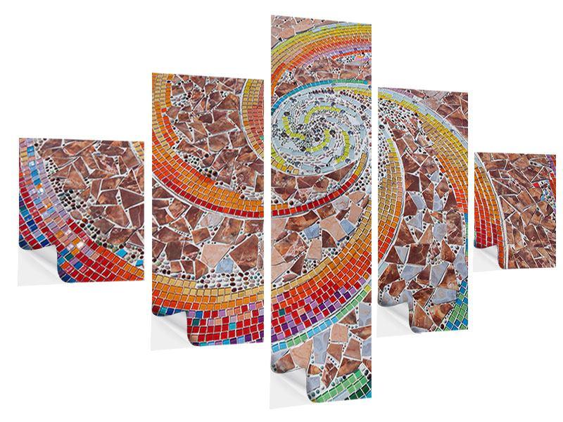 Klebeposter 5-teilig Mosaik