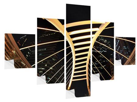 Klebeposter 5-teilig Avantgardistische Brücke
