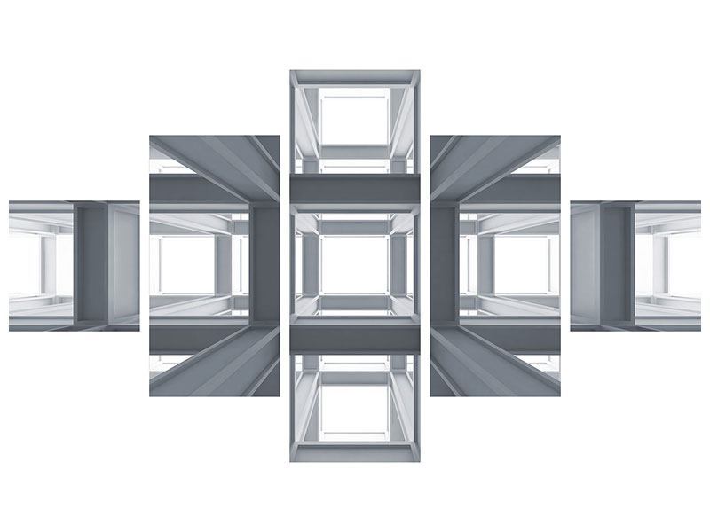Klebeposter 5-teilig Räume