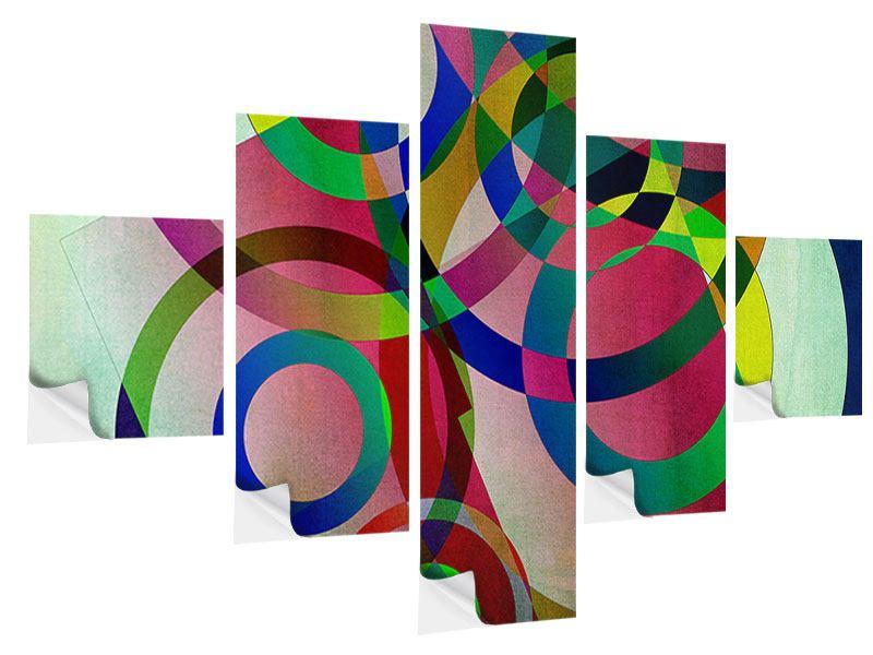 Klebeposter 5-teilig Wandkunst
