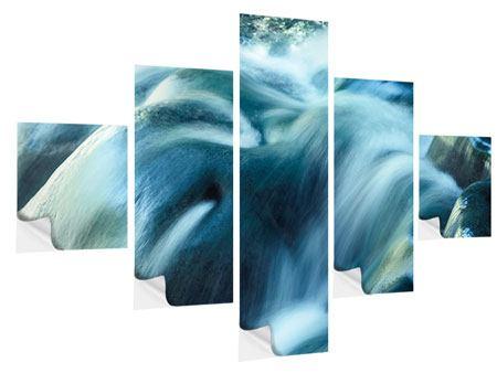 Klebeposter 5-teilig Das Fliessende Wasser