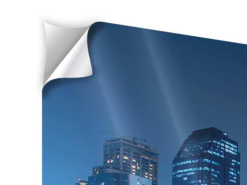 Klebeposter 5-teilig Skyline Bangkok bei Nacht