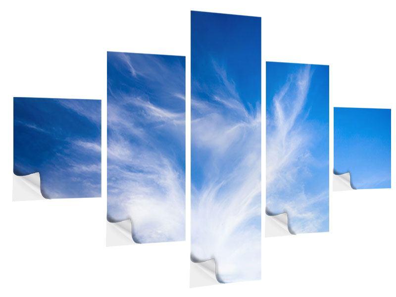Klebeposter 5-teilig Schleierwolken