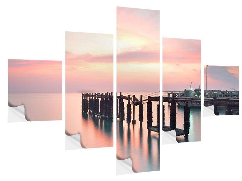Klebeposter 5-teilig Der beruhigende Sonnenuntergang