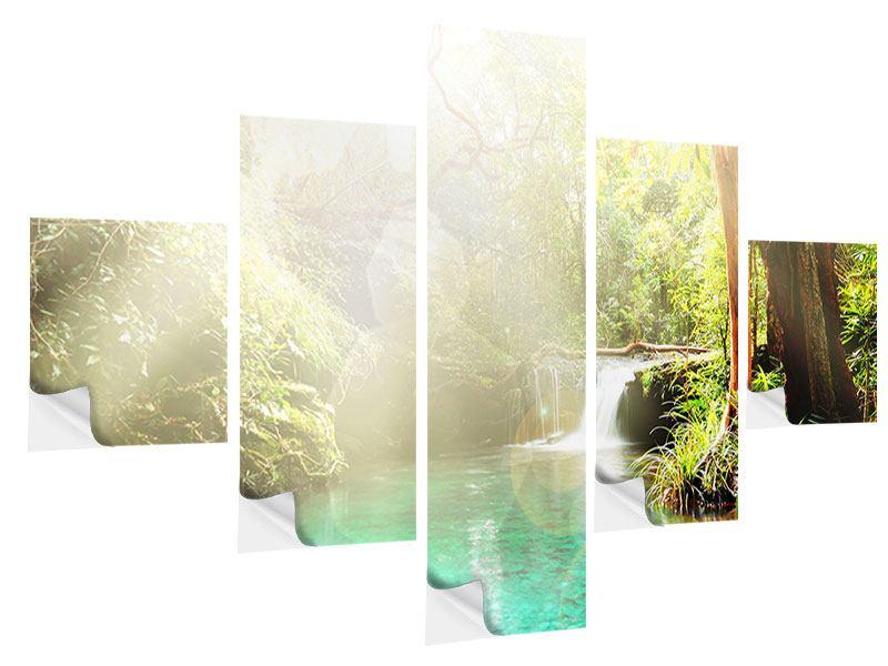 Klebeposter 5-teilig Die grüne Lagune