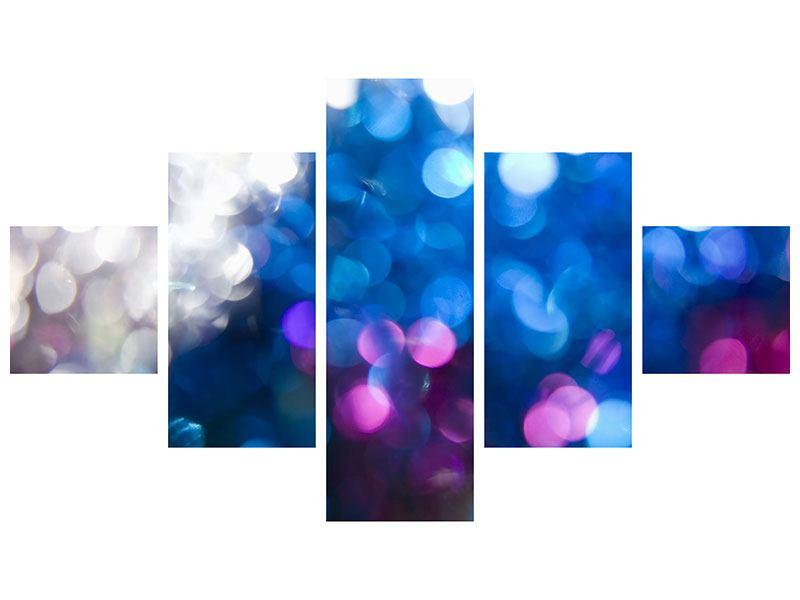 Klebeposter 5-teilig Abstraktes Licht