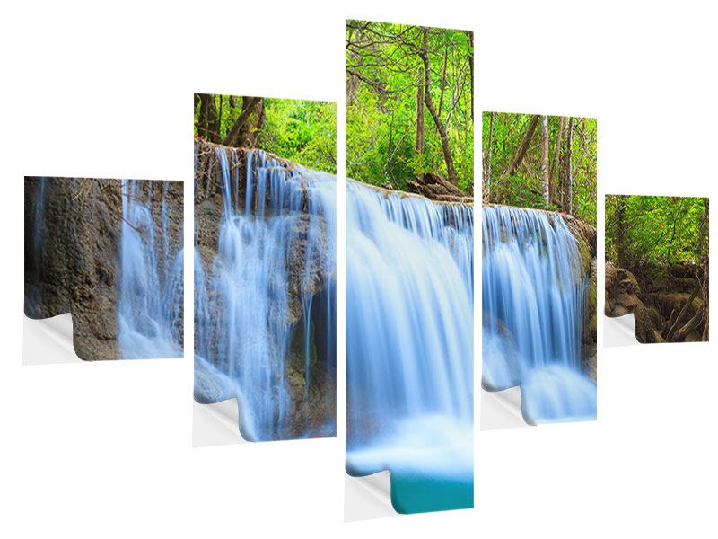 Klebeposter 5-teilig Wasserfall Si Nakharin