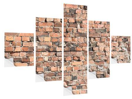 Klebeposter 5-teilig Alte Backsteinmauer