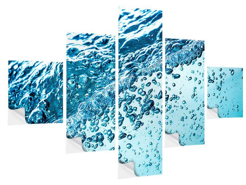 Klebeposter 5-teilig Wasser in Bewegung