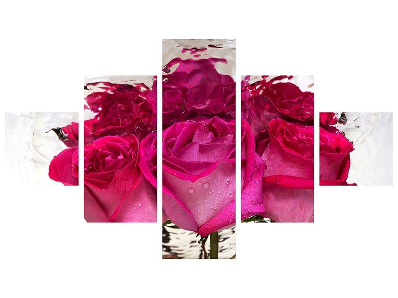 Klebeposter 5-teilig Die Rosenspiegelung