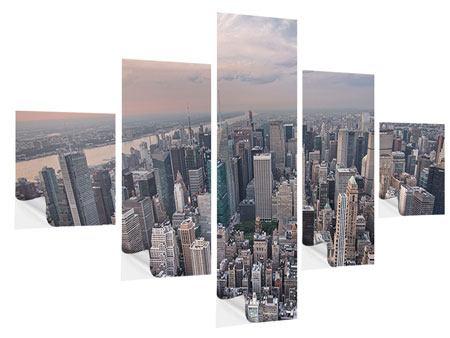 Klebeposter 5-teilig Skyline Blick über Manhattan