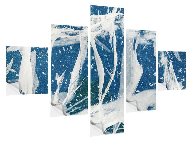 Klebeposter 5-teilig Eiskristalle