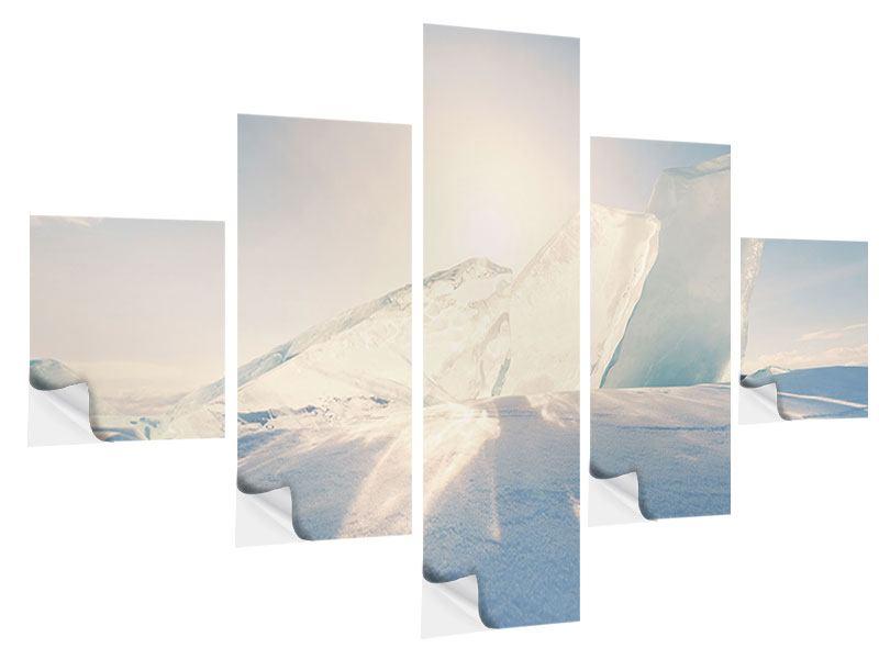 Klebeposter 5-teilig Eislandschaft